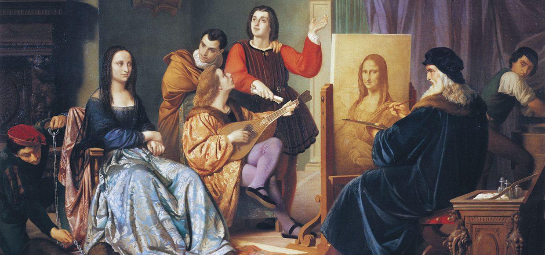 Leonardo da Vinci painting Mona Lisa by Cesare Maccari (1840-1919), 1863