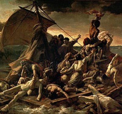 450px-JEAN_LOUIS_THÉODORE_GÉRICAULT_-_La_Balsa_de_la_Medusa_(Museo_del_Louvre,_1818-19)